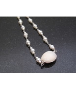 Silver Pearl and Opal Necklace - $50.00