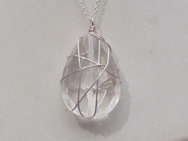 Silver Quartz Wrapped Stone