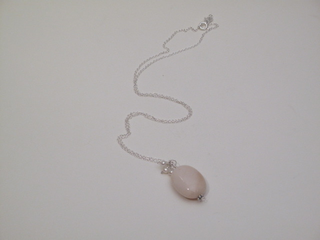 Silver Opal and Pearl Berries Necklace