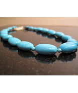 Large Bright Blue Chinese Turquoise Necklace - $45.00
