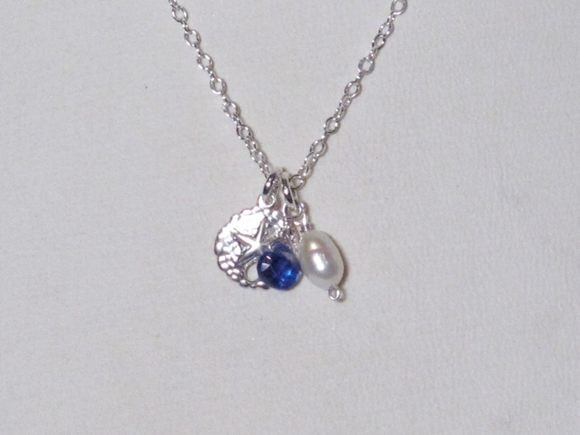Sterling Silver Life's a Beach berries necklace