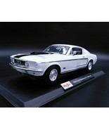 1968 Ford Mustang GT Cobra Jet White Die Cast 1/18 Maisto Special Edition   - $29.99