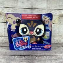 LPS Littlest Pet Shop LPSO Pets Penguin Blue and Gold Stuffed Plush 2008 - $19.79