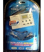 COBY AM/FM  RADIO CX53 -  ALARM CLOCK & SPEAKER - $14.50