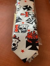 "Fantastic Skull slim 2"" necktie new - $10.00"