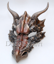 Dragon Mask Wall Decor Bronze sculpture Game of Thrones Free Shipping Ev... - $107.91