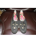 HUSH PUPPIES Leather loafers/moccasins Black/khaki Size 6.5 AA Women's EUC - $32.40