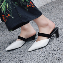 Women Heeled 2018 Sum Pumps Pointed FEDONAS Leather Genuine High New Toe Spring xEqqwUTz