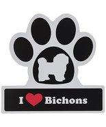 Little Gifts Bichon Frise Paw Car Magnet - $9.79