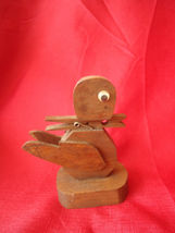 Vintage Primitive Small Hand Made Folk Art Wood  Statue Figurine - $13.00
