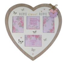 Large Home Sweet Home Butterfly Wood Glass To Hang 4 X Photo Frame - $44.49