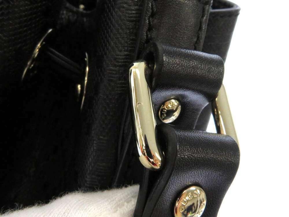 GUCCI Diamente Leather Black Shoulder Bag 354229 One shoulder Italy Authentic image 5