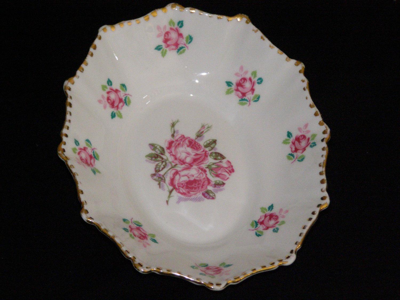 Vintage Royal Stafford Tudor Rose Gold Trim Bone China Made In England Oval Nut