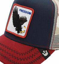 Goorin Bros Snapback Mesh Cap Navy Let It Ring Freedom Eagle Trucker Hat 1010563 image 4