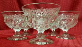 Antique American Brilliant Cut Floral/Geometric Champagne/Sherbet Glasse... - $108.00