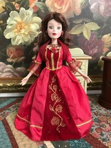 Disney Princess Belle 15 Inch Porcelain Doll Red Gown Gorgeous 2003 - $86.85