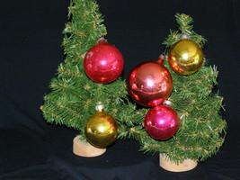 "Vintage Lot of Five Glass Christmas Ornaments USA 2"" & 3"" - $12.50"