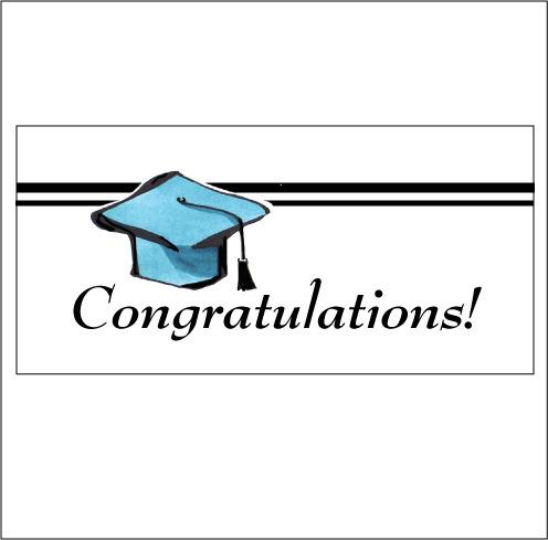 Grad congratulations blue c