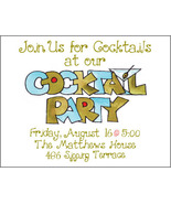 Cocktail Party Invitation - $34.00