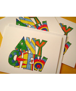Personalized Hand Lettered and Painted Note Card Set - $18.00