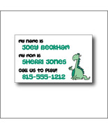 Kid's Green Dinosaur Personalized Calling Cards - $14.00