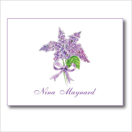 Lilac note card shadow155