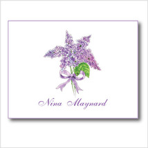 Personalized Lilac Note Card Set - $18.00