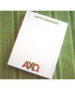 Personalized Sorority Notepad with Hand-Lettered Greek Letters - $12.00