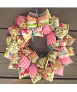 Shabby Chic Fabric Wreath - $36.50
