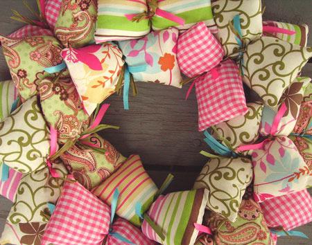 Shabby Chic Fabric Wreath