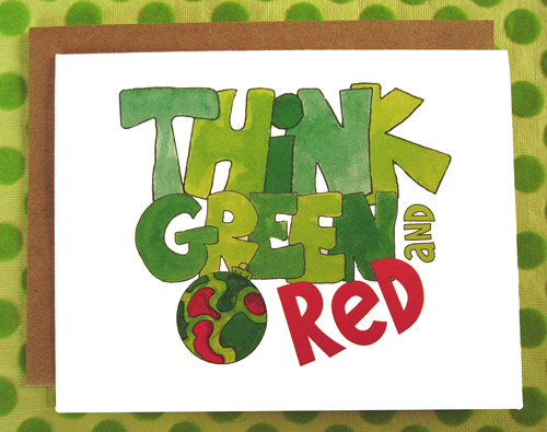 Think green and red notecar