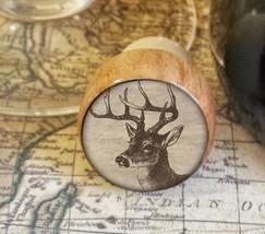 Deer Wine Stopper, Wildlife Handmade Wood Bottle Stopper, Woodland Gift ... - $8.86