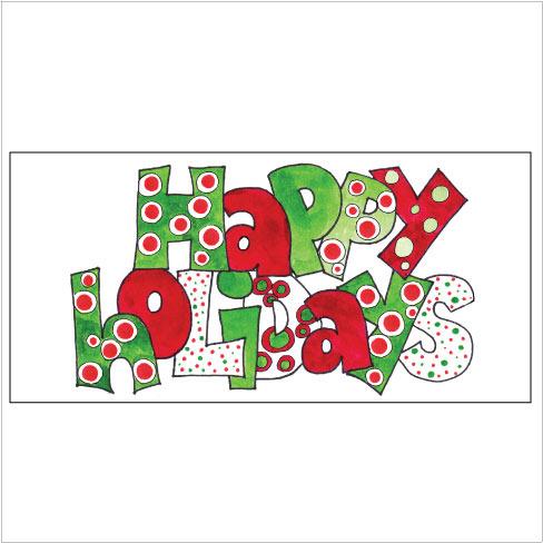 Happy holidays dots mholder
