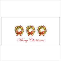 Three Holiday Wreaths Tri-Fold Money Holder - $7.25