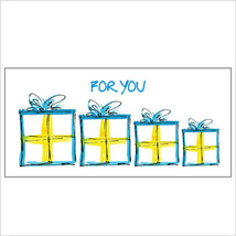 Blue & Yellow Wrapped Gifts Money Holder - $7.25