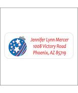 Patriotic Return Address Label - $9.25
