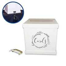 Sweet Brite Upgraded Security Wedding Card Box with C Clamp, Wedding Env... - $27.19