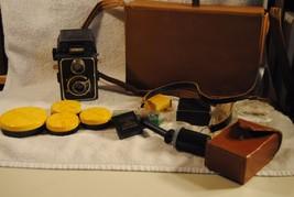 Vintage Wirgin Compur Camera  w/ F. Deckel-Munchen 7.5 Lens CASE & ACCES... - $129.99