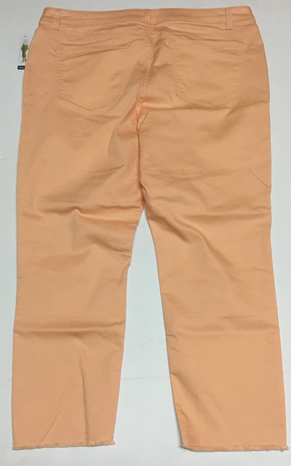 Women's Ankle Pants Cropped Coral Denim Sz 18 Time & Tru NWT