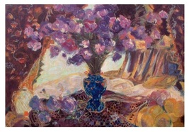 """A.M. Francis """"Study In Purple"""" - S/N Serigraph - Retail $450 - COA - See... - $200.00"""