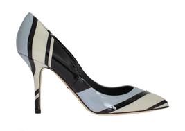 Dolce & Gabbana Women Blue Striped Patent Leather Pumps EU39/US8.5 - $216.79