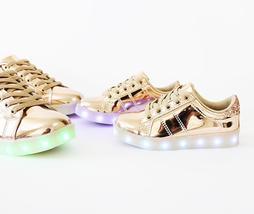 skyer-02 metallic rose gold LEDs lit sole sneakers - €29,19 EUR