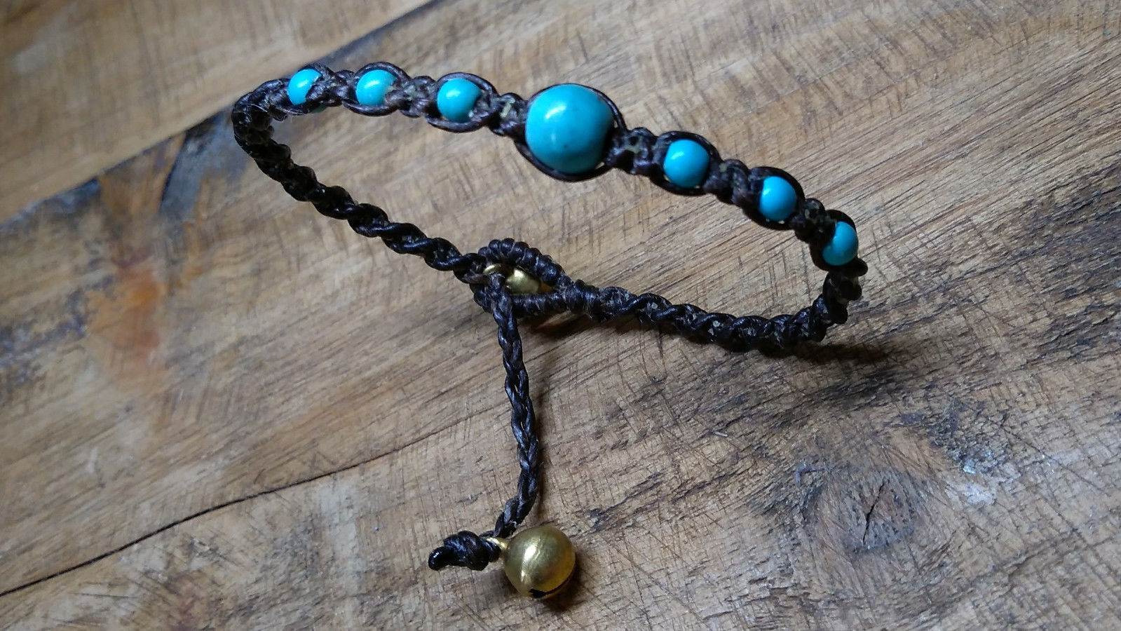 2 Handcrafted Turquoise Bead Thai Wristbands Bracelets Handmade In Thailand