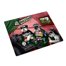 "Home of Schnauzers 4 Dogs Playing Poker Magnet (Mini 3.5"" x 2"") - €5,06 EUR"
