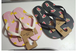 ❤️NWT Coach Flip Flop G3437 Banana or watermelon shoes  sandle Size 8 or 9 - $29.99