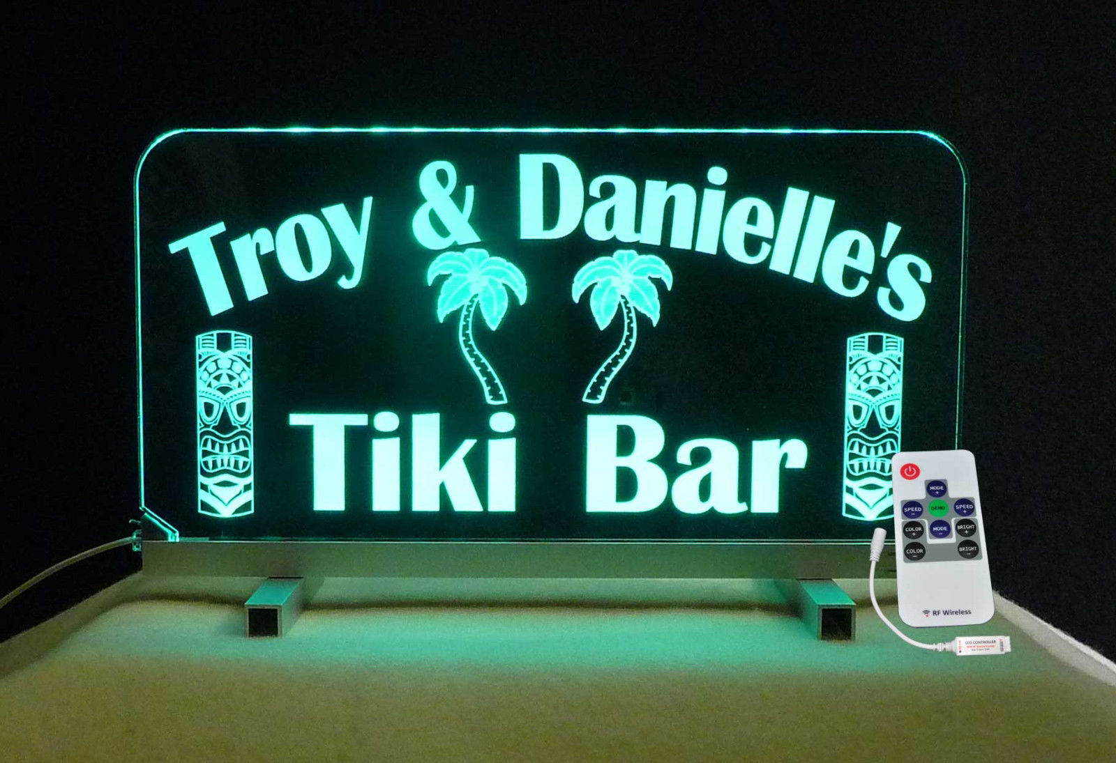 Personalized Tiki Bar Sign, Man Cave Sign, Gift for her, Color Changing