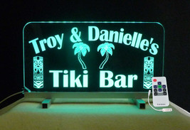 Personalized Tiki Bar Sign, Man Cave Sign, Gift for her, Color Changing - $94.05+