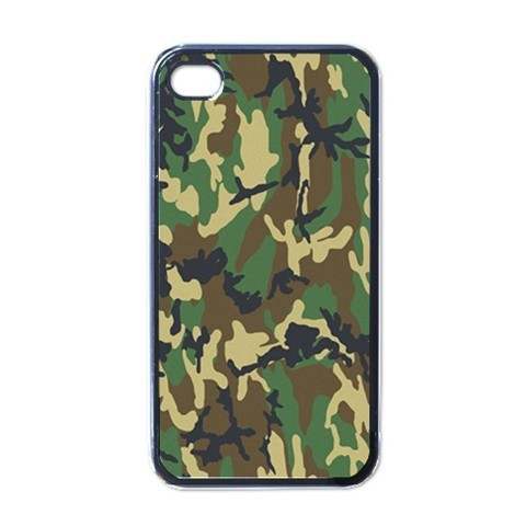 ARMY WOODLAND CAMO HARD BACK CASE FOR APPLE iPHONE 4/4S