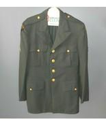 Vintage Us Army Luftgestützte Militärgrün Kleid Uniform Jacke Mantel Cle... - $73.52