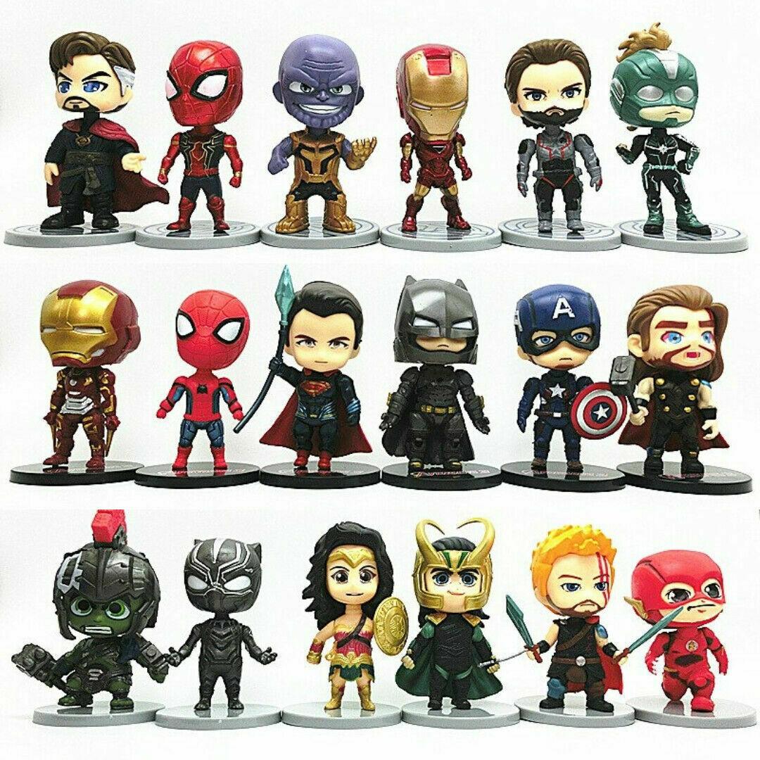 6pcs / set Comic Superhelden AVENGERS JUSTICE LEAGUE Action Figure Lot... - $24.99